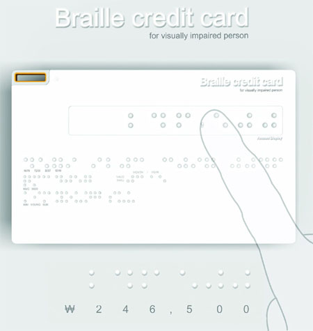 Even Blind People Are Safe From Scams With Braille Credit Card
