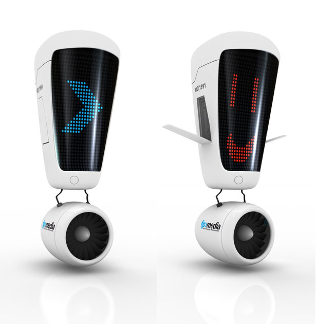 Exclamation Marky Flying Robot by Ronny Sauer and Form & Drang