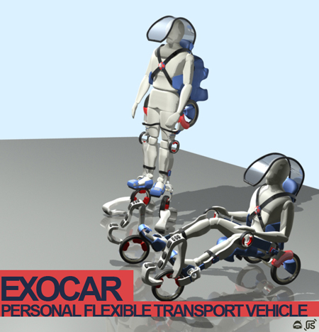 exocar personal flexible transport vehicle