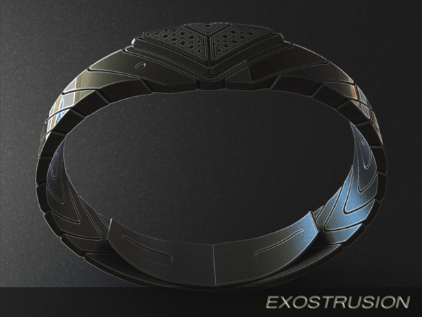 Exostrusion LED Watch Concept by Peter Fletcher