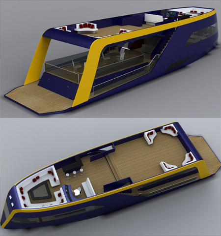 Experience The Balcony Concept Yacht With Wide Open Spaces