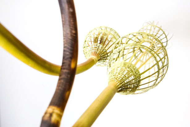 Explosive Bamboo Installations Present Modern Design And Craft Using