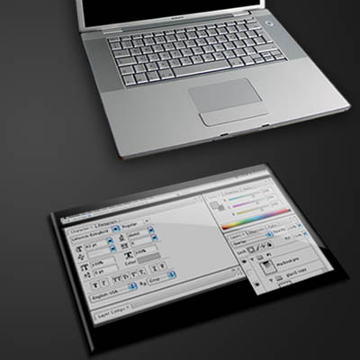 external touch screen concept
