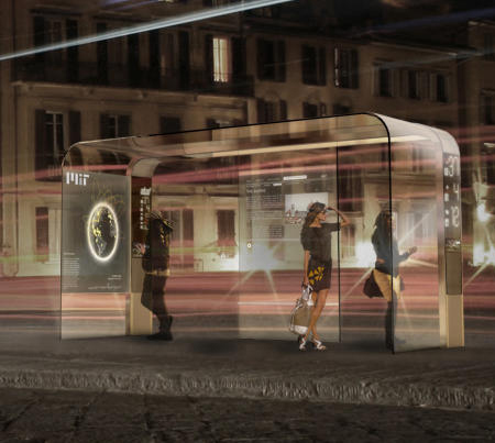 EyeStops : Futuristic Bus Stops from SENSEable City Lab of MIT
