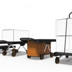 EZ Cart Concept Platform Trolley Features Foot and Air Pump for Easy Cargo Lifting