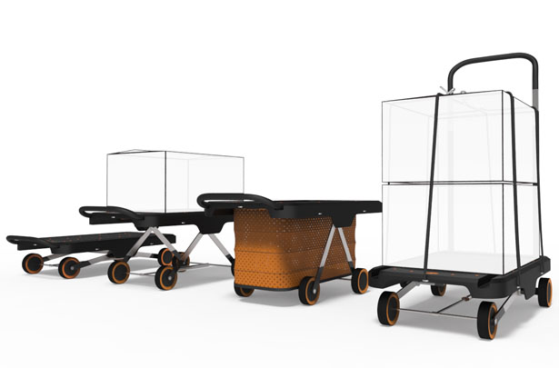 EZ Cart Concept Platform Trolley by Chiang Yu-Chen and Wu Yi-Chenh