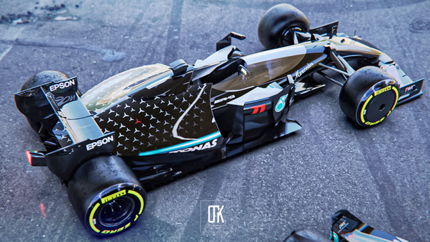 F1 Net Zero Carbon - Formula One 2030 Race Car Concept Series by Olcay Tuncay Karabulut