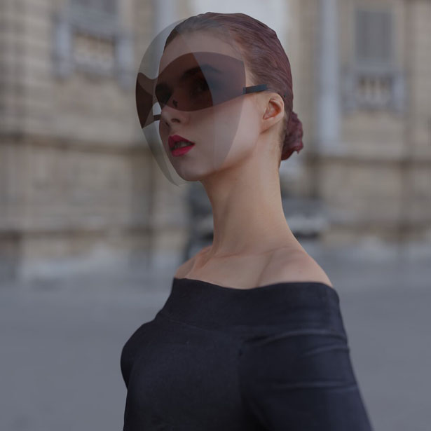 Face Shield as Fashion Accessory by Joe Doucet