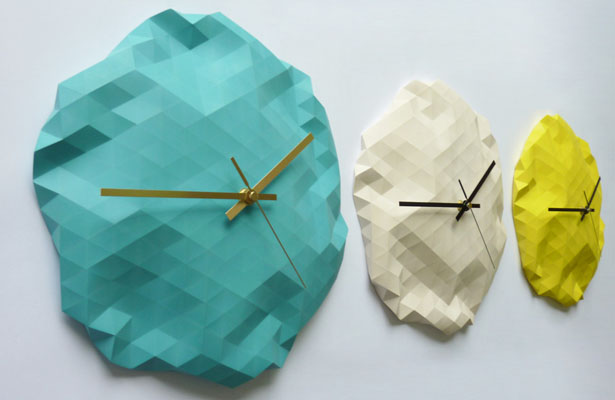 Faceted Wall Clock by Raw Dezign