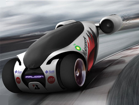 Falcon Concept Car Features Great Power with Jet Propelled Engines