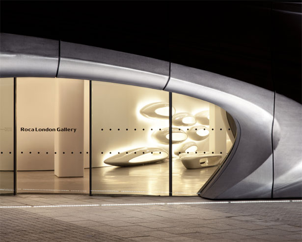 roca london gallery by zaha hadid architects