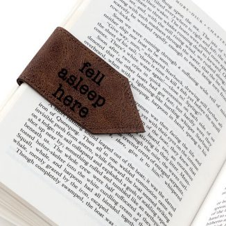 "Stylish ""Fell Asleep Here"" Magnetic Bookmark for Bookworms"