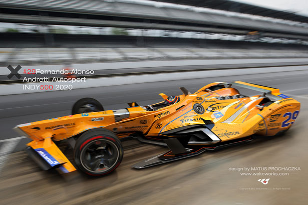 2020 Indy 500 Entry List.Fernando Alonso Indy500 Concept Race Car For 2020 By Matus