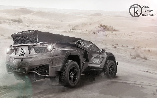 Ferrari Dakar 4x4 Rally Concept Vehicle for 2020 by Olcay Tuncay Karabulut