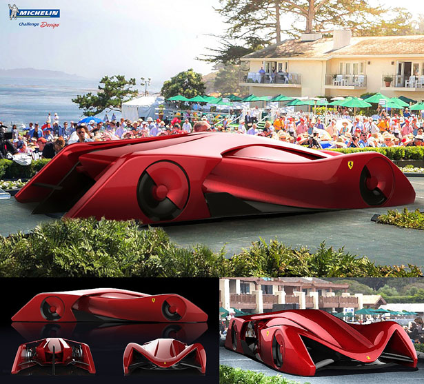 Ferrari Gothica Rossa Concept Supercar by Jeremy Han Donghun