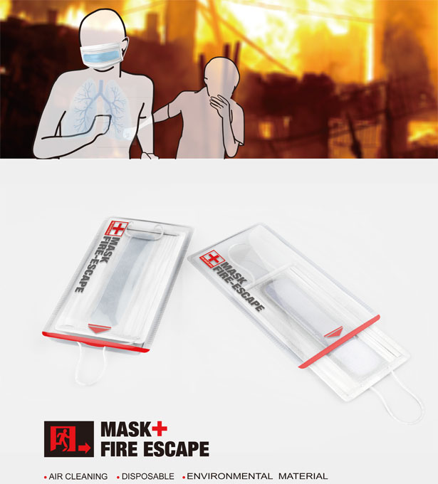 Fire Escape Mask by Jiang Jieyu, Fang Zishuo, Tong Shang, Hu Tengwen, and Chi Cheng