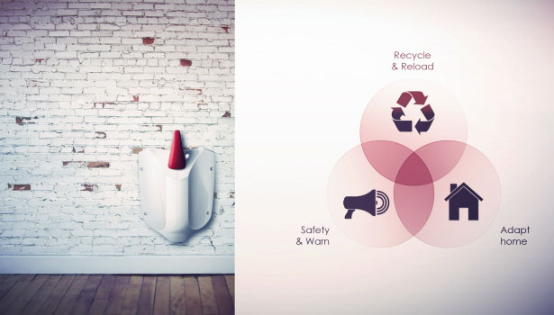 Fire Extinguisher for Home Redesigned by Jonathan Bigot