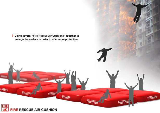 Fire Rescue Air Cushion by Hao Zhang Haoyu, Ye Yiqing Shen, and Ruoqiong Wang