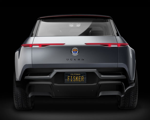 Fisker Ocean Electric SUV with Solar Panels Roof