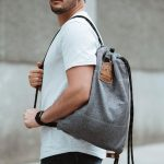 Flak Sack : Slash-Resistant Drawstring Backpack with Water Repellent Coating