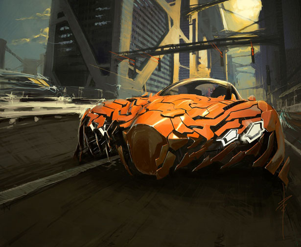 Flake Futuristic Concept Car by Da Feng