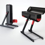 Sleek and Modern FlameOn Barbecue Grill Concept with High Portability