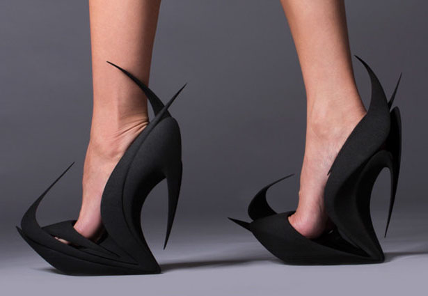 Flames Shoes by Zaha Hadid