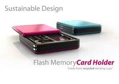 flash memory card holder