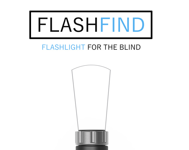 FLASHFIND: Flashlight Designed Specially for Blind People by Mohsen Darvish