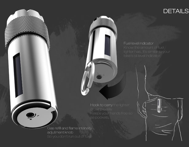 FLINT Cigarette Lighter by Sumedh Vartak
