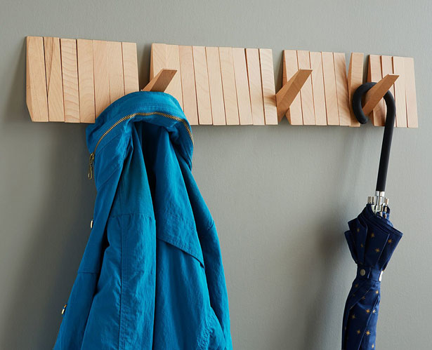 Flip Rack : Wooden Coat Rack by Rich Moore and Avik Maitra