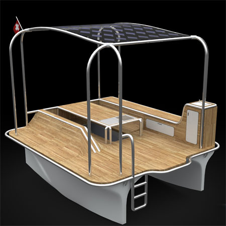 Float Solar Powered Motor Boat Provides Enjoyable Marine Picnic Alternative