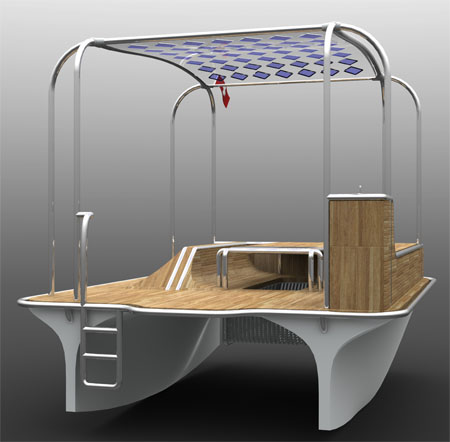 Float Solar Powered Motor Boat Provides Enjoyable Marine