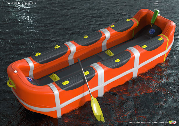 FloodHopper Self Inflating Self Rescuing Life Raft