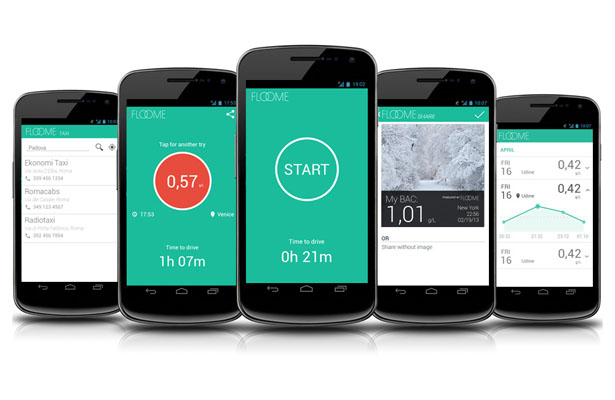 FLOOME Personal Breathalyzer for Smartphone by 2045tech