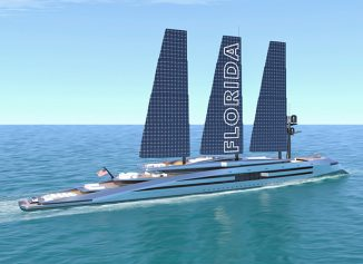 Florida 525-Foot Sailing Yacht Concept with Retractable Wing Sails