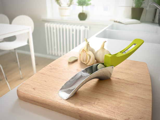 Flow Garlic Press by Philippe Baril