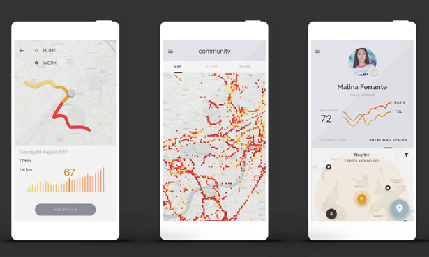 Flow Smart Air Quality Tracker by Frog Design and Plume Labs