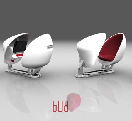 Flower Bud : Modern Adjustable Computer Workstation Concept