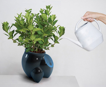 flower pot detects plant age