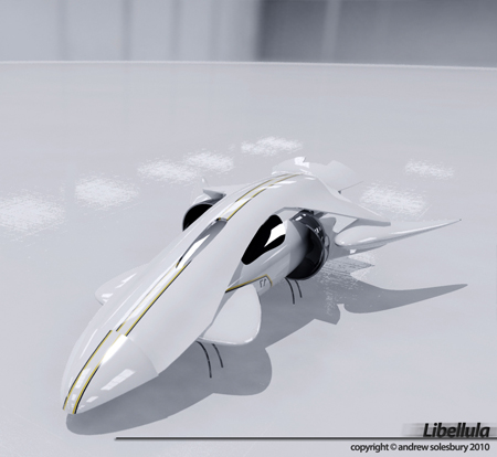 Libellula : Futuristic Flying Car for The Future by Andrew Solesbury