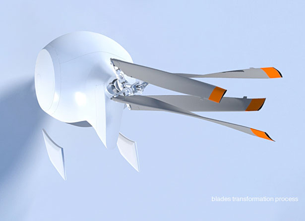 Sky and Water - Flying Vehicle by Dmitry Shtok