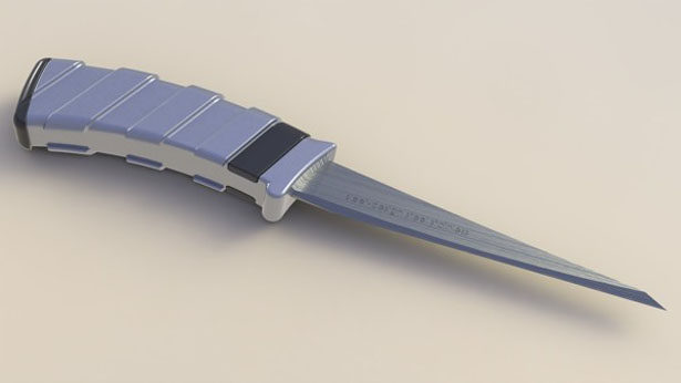 Folding Knife With A Sharpener by Yevgeny Shaposhnikov