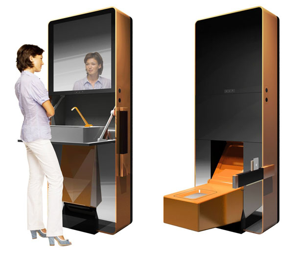 Folding Toilet is an All-in-One Multifunctional Sanitaryware Case by Perfect Interior Architecture