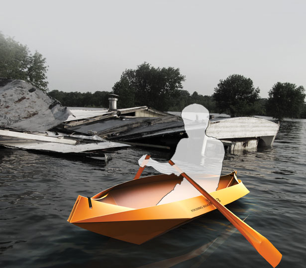 FoldingBoat - Collapsible Lifeboat Concept