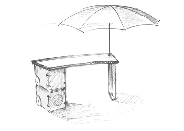 Food Carriage System for Street Markets