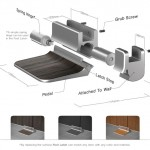 Foot Latch Design for Public Restroom Stall Doors - No Hands Needed