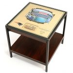 Football Stadium Lights End Table with 3D Replica of Football Stadium