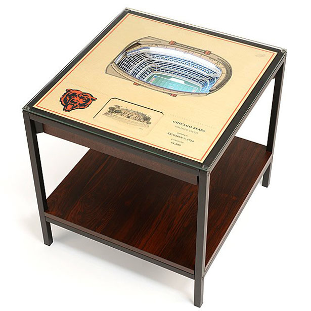 Football Stadium Lights End Table