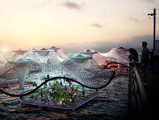 Foram : An Amphibious Pavilion That Functions As Water Purification Vessel by Bart/Bratke